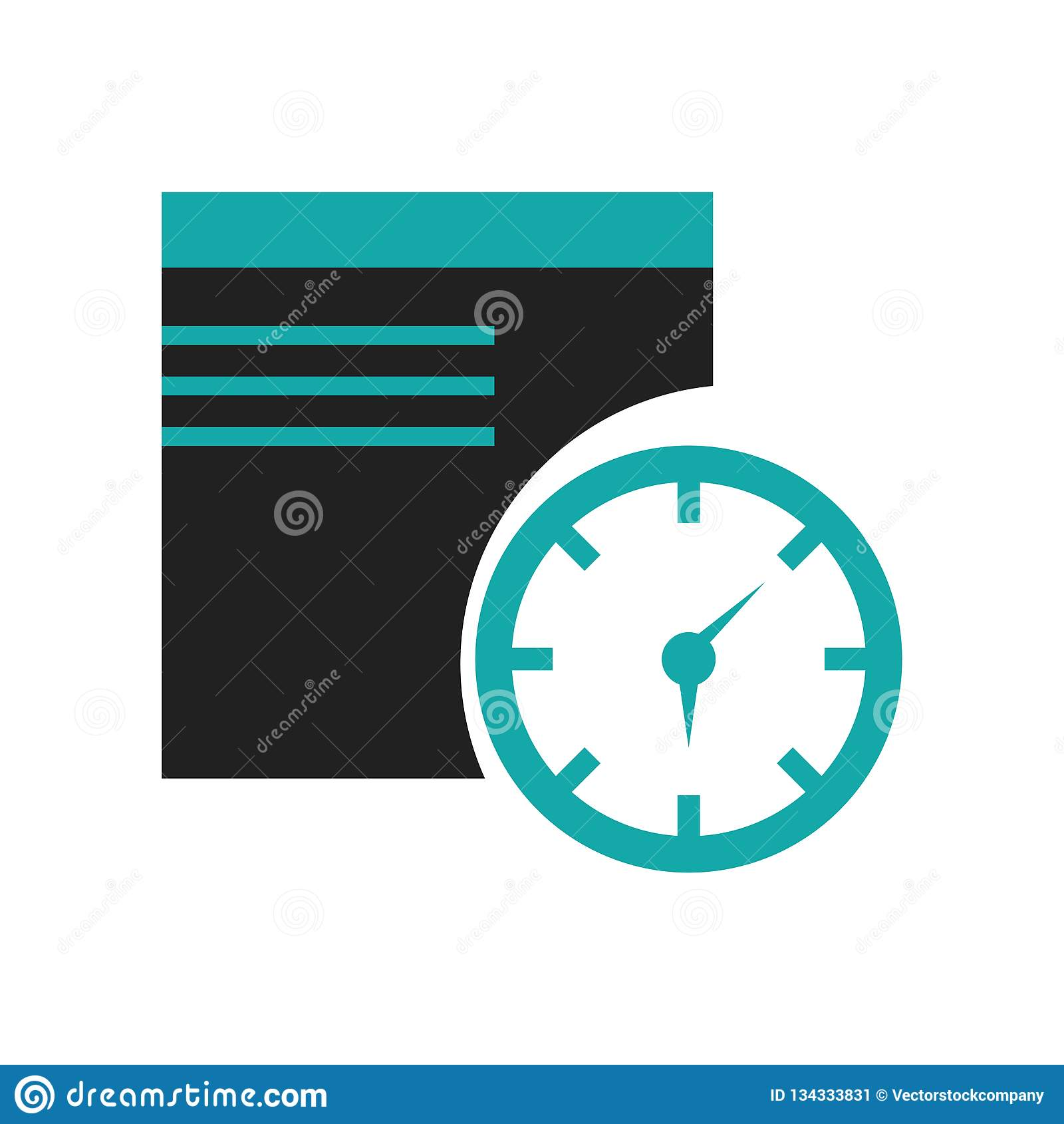Nadokienny czasu symbolu ikony wektoru znak i symbol odizolowywający na białym tle, Nadokienny czasu symbolu logo pojęcie