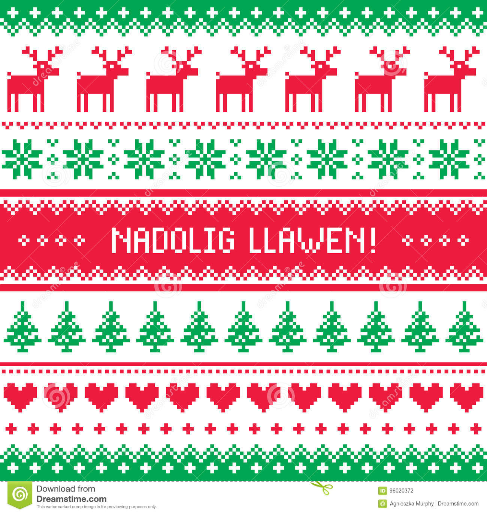 Nadolig llawen merry christmas in welsh greetings card seamless nadolig llawen merry christmas in welsh greetings card seamless pattern m4hsunfo