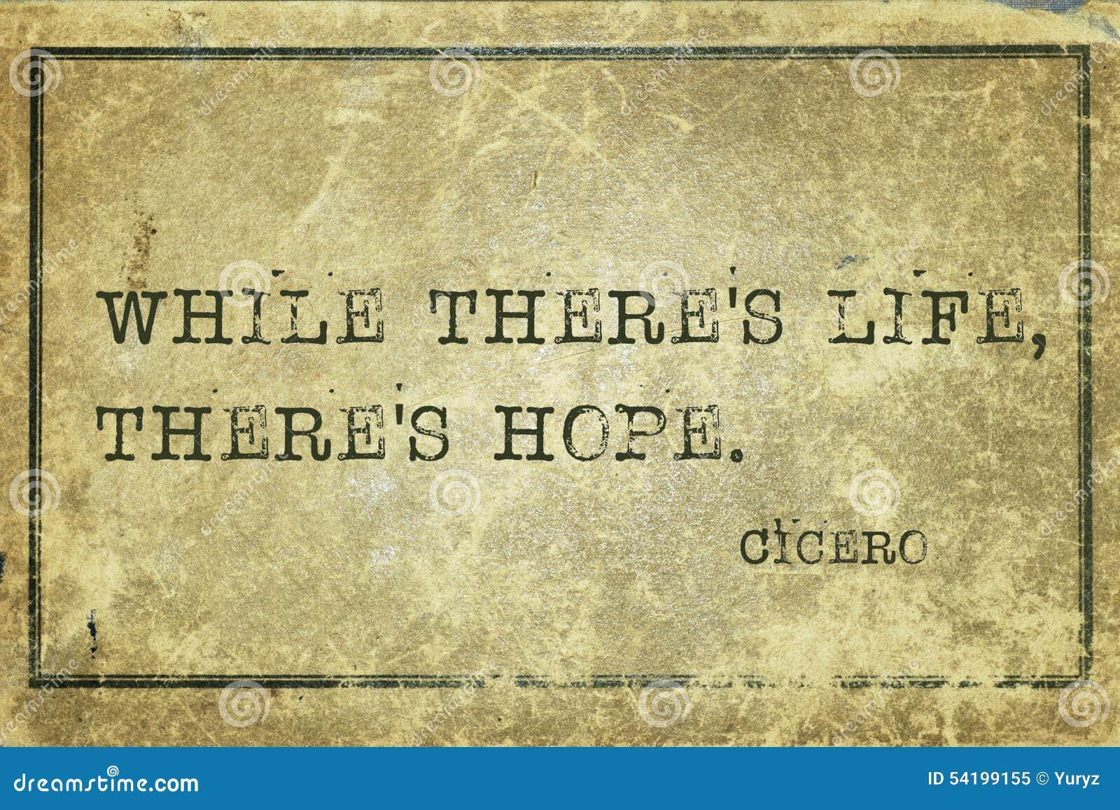 Nadzieja żywy Cicero