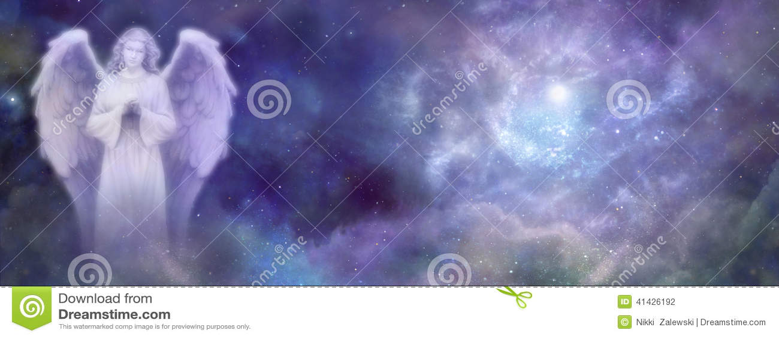 Nadziemski anioł strony internetowej sztandar