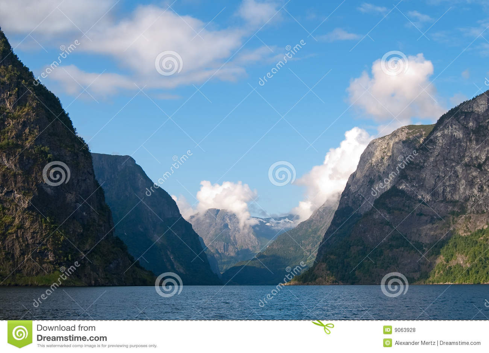 Naeroyfjord in Norvegia (patrimonio mondiale dell Unesco)