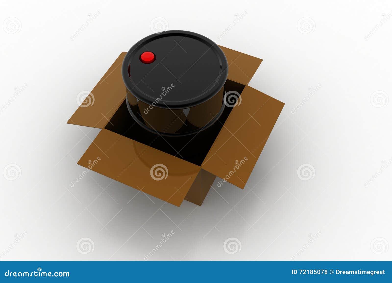 Nafciana baryłka z pudełkiem