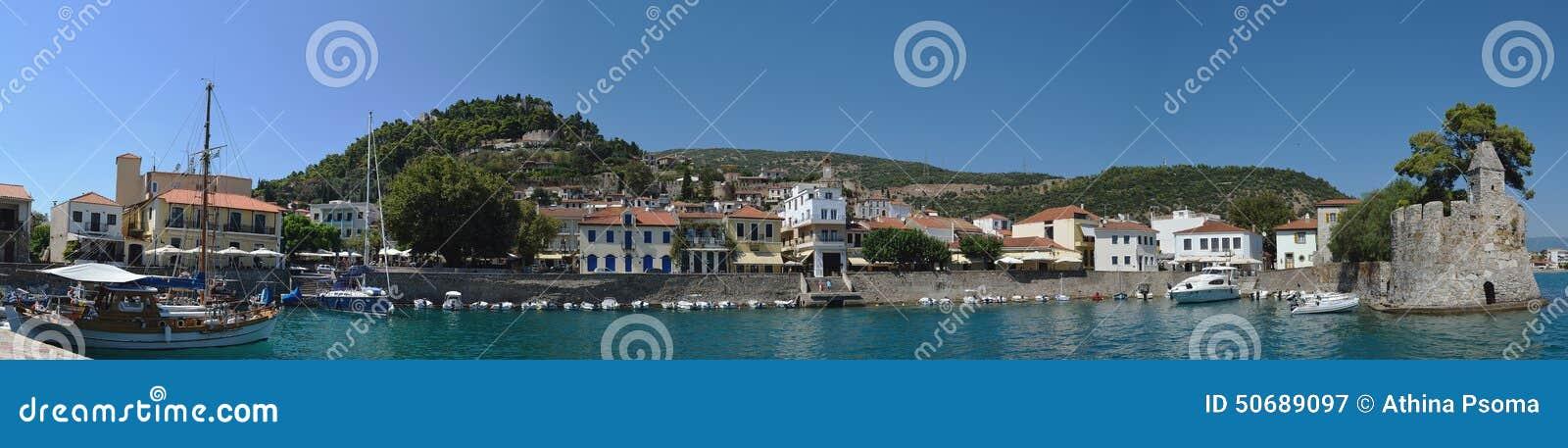 Download Nafpaktos全景 图库摄影片. 图片 包括有 希腊, 地标, 旅行, 巡航, 拱道, 堡垒, 端口 - 50689097
