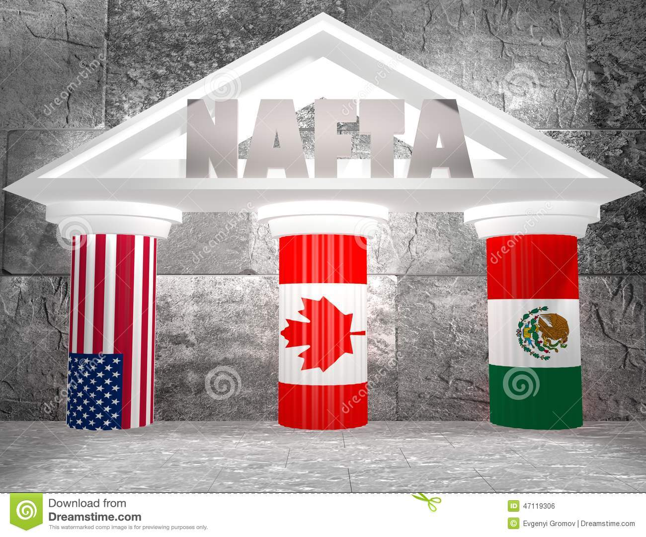Nafta North American Free Trade Agreement Stock