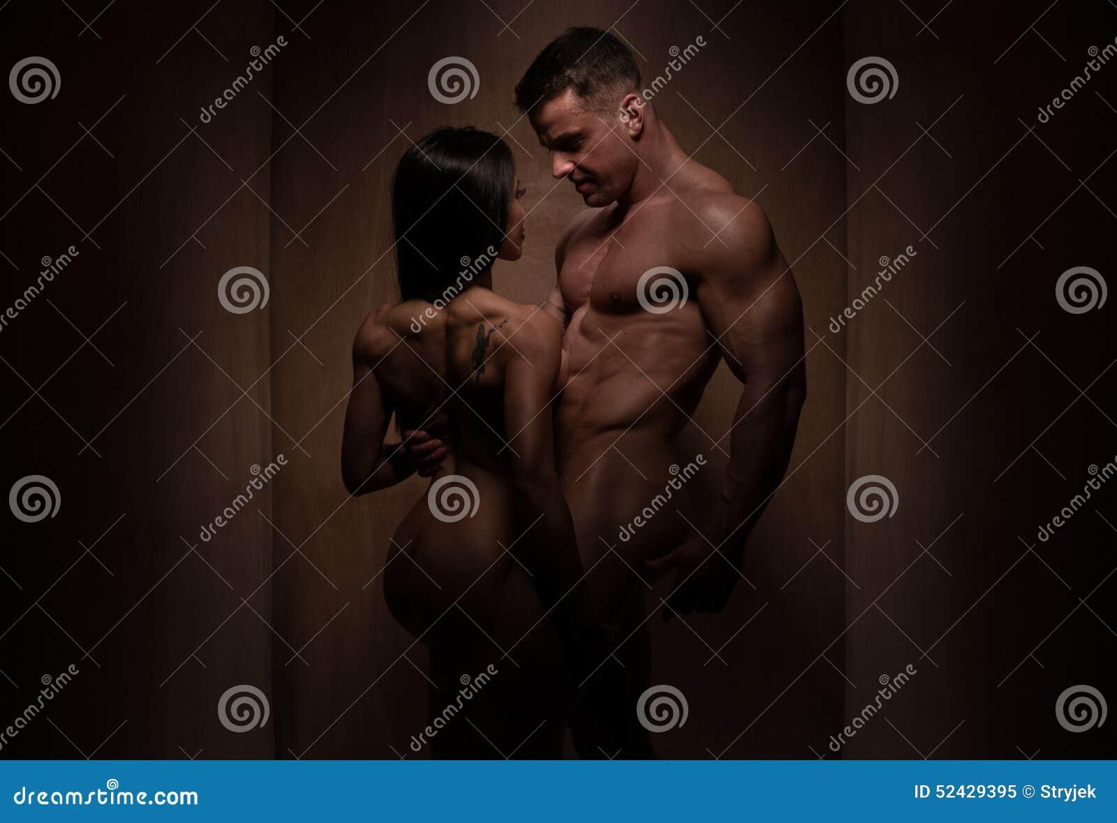 Naga Romantyczna Bodybuilding para w sylwetce