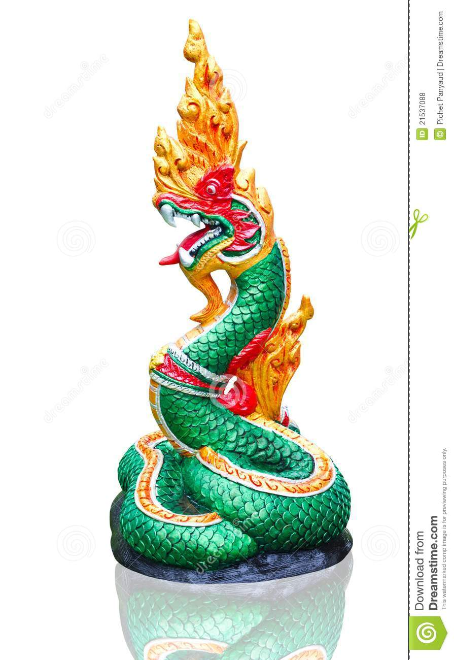 Naga Thai Statue Royalty Free Stock Photos Image 21537088