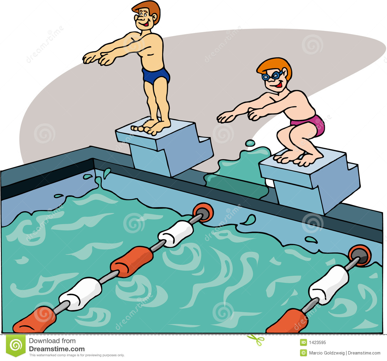 Nageurs nageant illustration stock illustration du for Apprendre a plonger dans la piscine