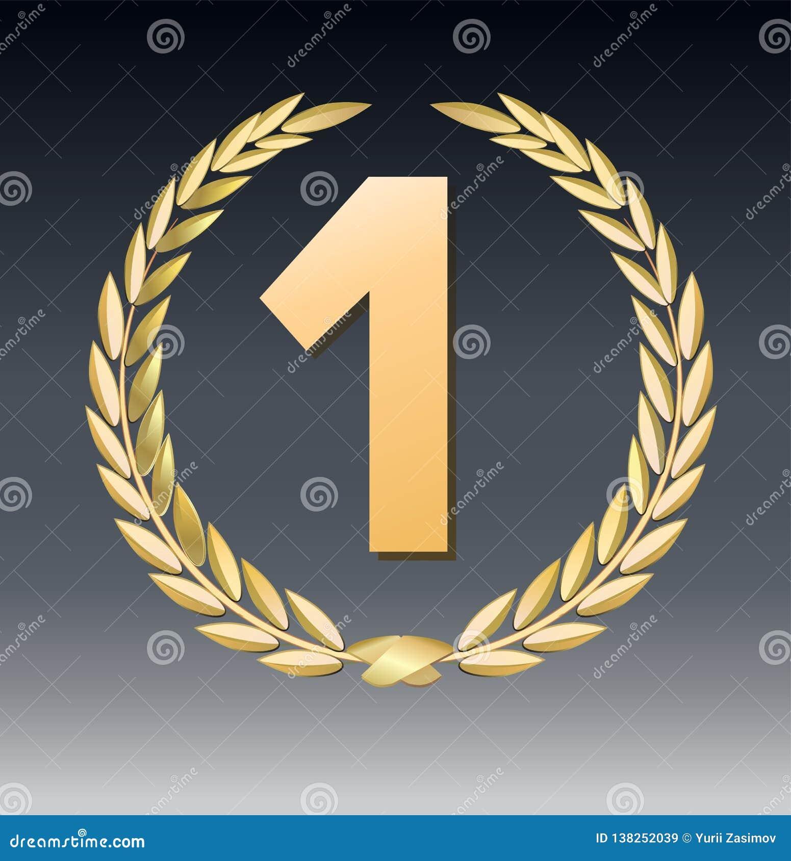 Nagroda bobek odizolowywający na przejrzystym tle Zwycięzcy szablon Symbol zwycięstwo i osiągnięcie bobka piękny złocisty ilustra