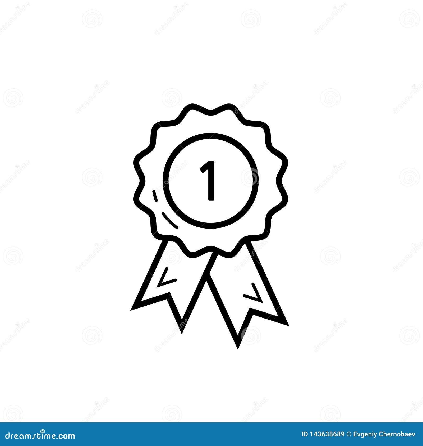 Nagroda medal lubi 1st ikonę Najlepszy ilości odznaki medalu sieci sklepu ikony wektor eps10 Najpierw miejsce medalu ikona