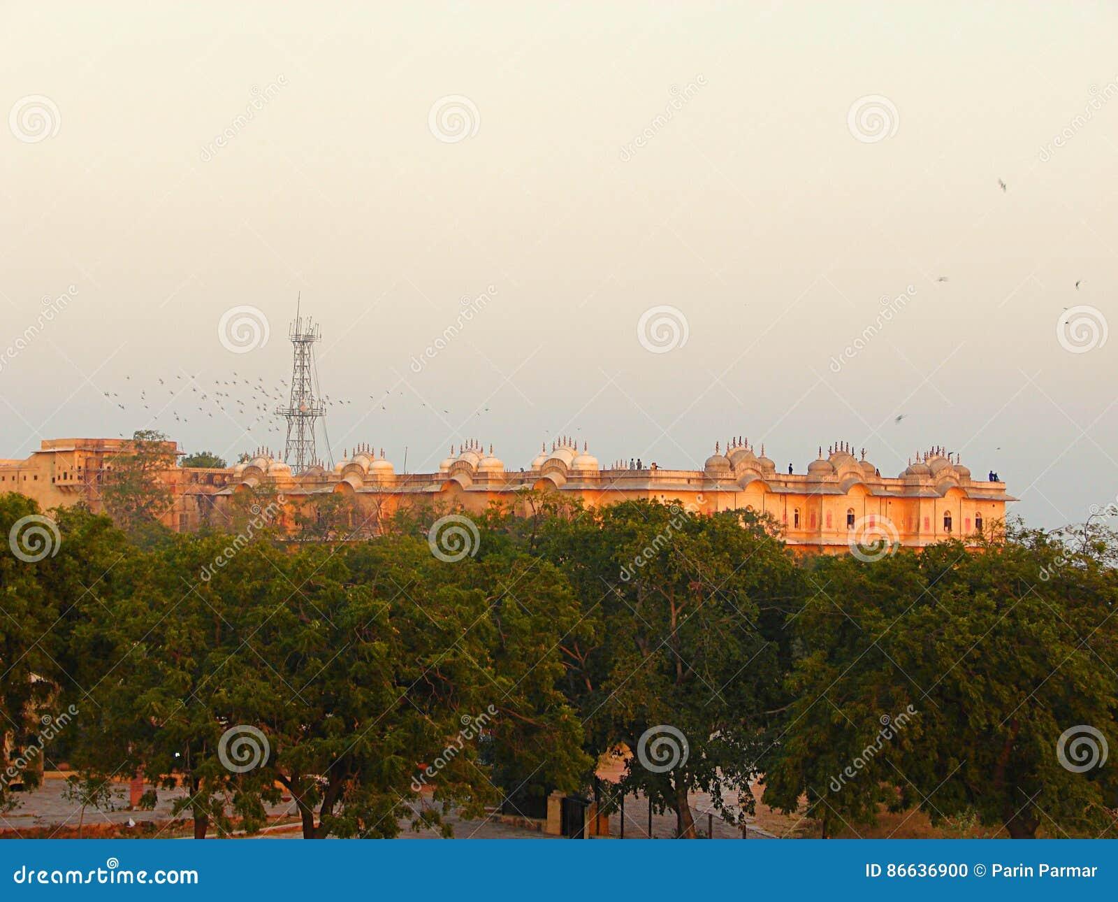 Nahargarhfort of Tiger Fort van Afstand, Jaipur, Rajasthan, India