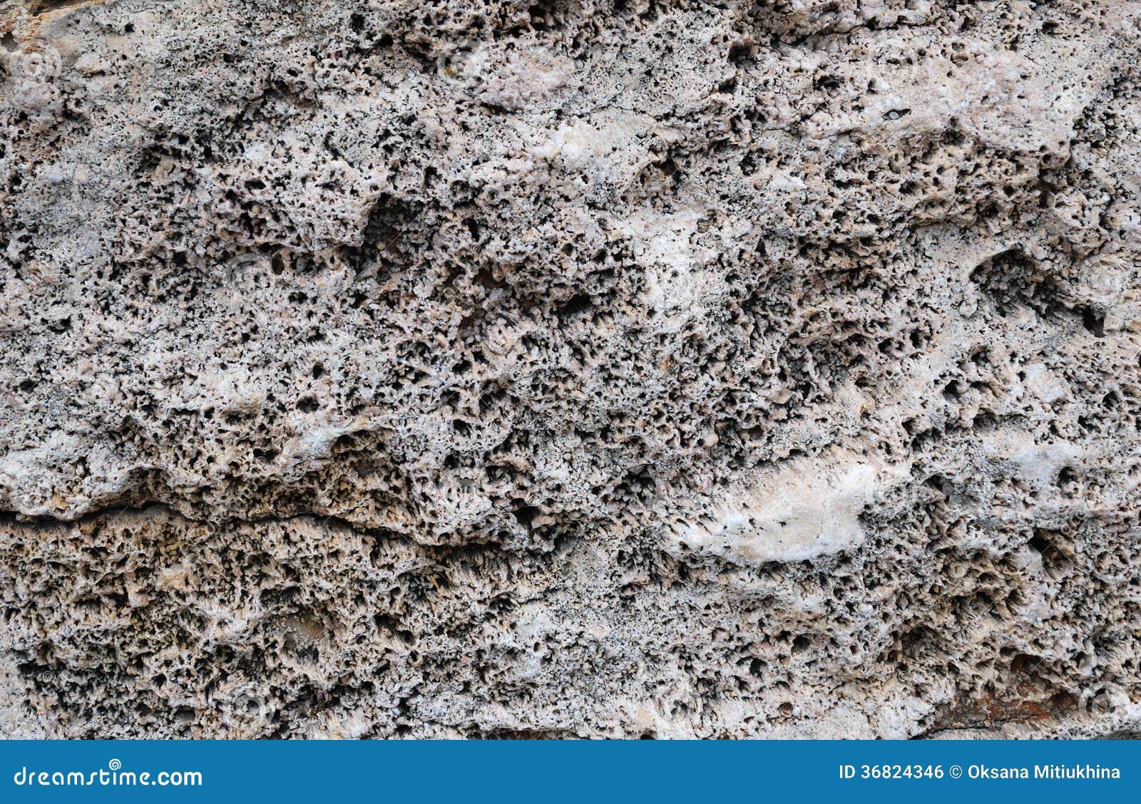 Nahaufnahme des korallenroten Sediments versteinert
