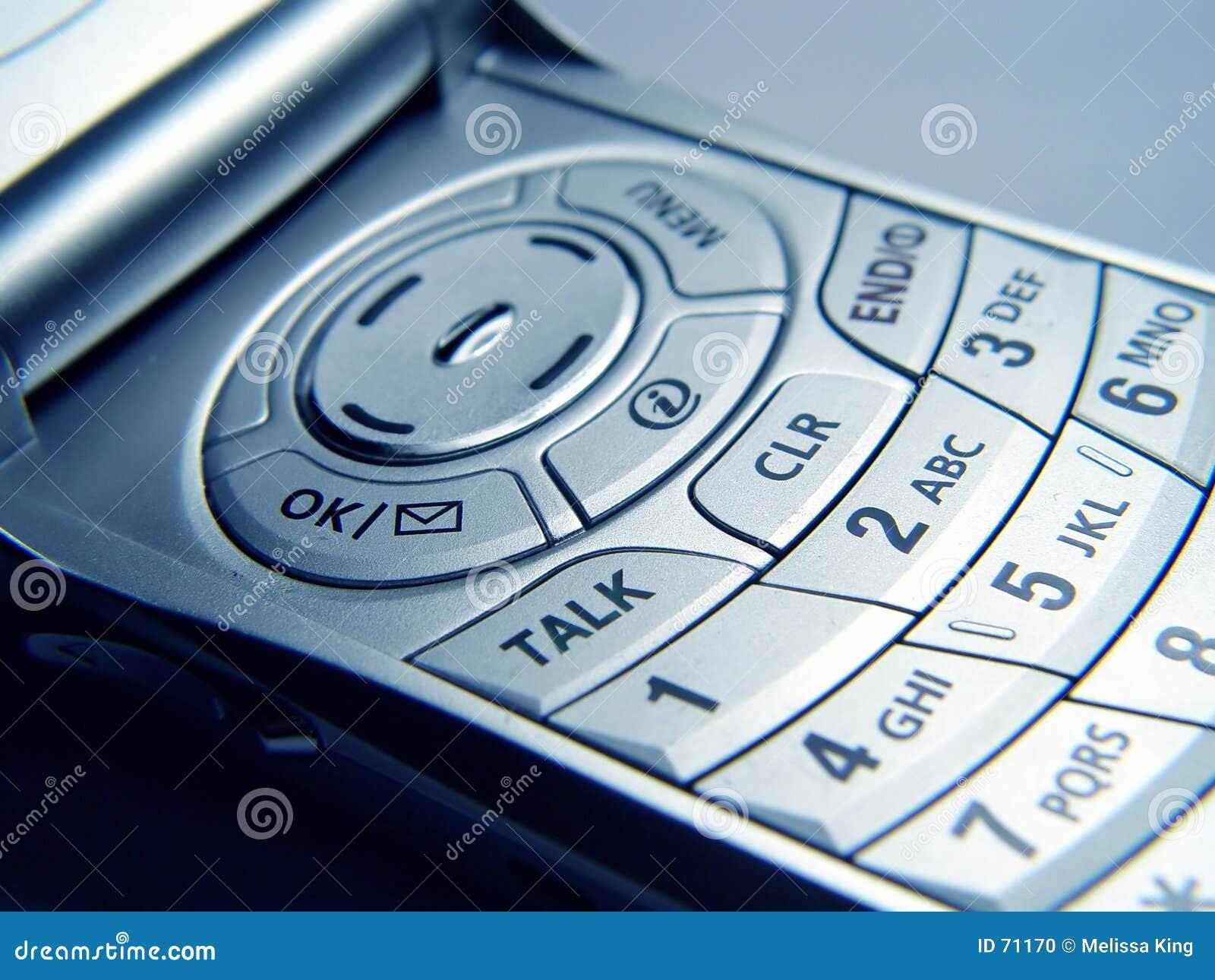 Nahaufnahme des Mobiltelefons
