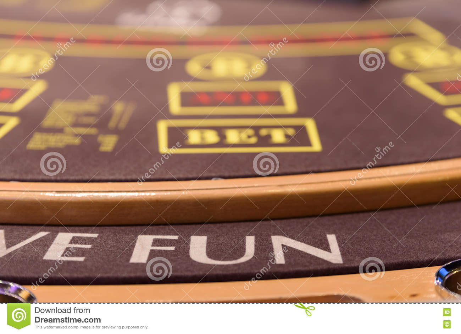 Nahaufnahme des Teils der Pokertabelle