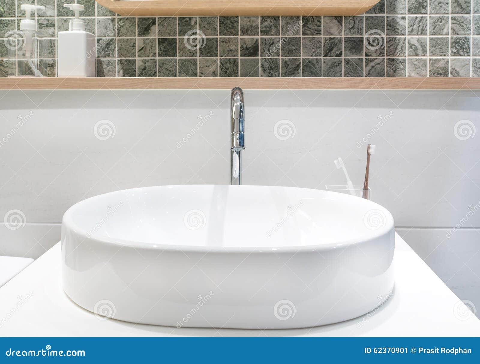 Nahaufnahme Eines Waschbeckens In Einem Modernen Badezimmer ...