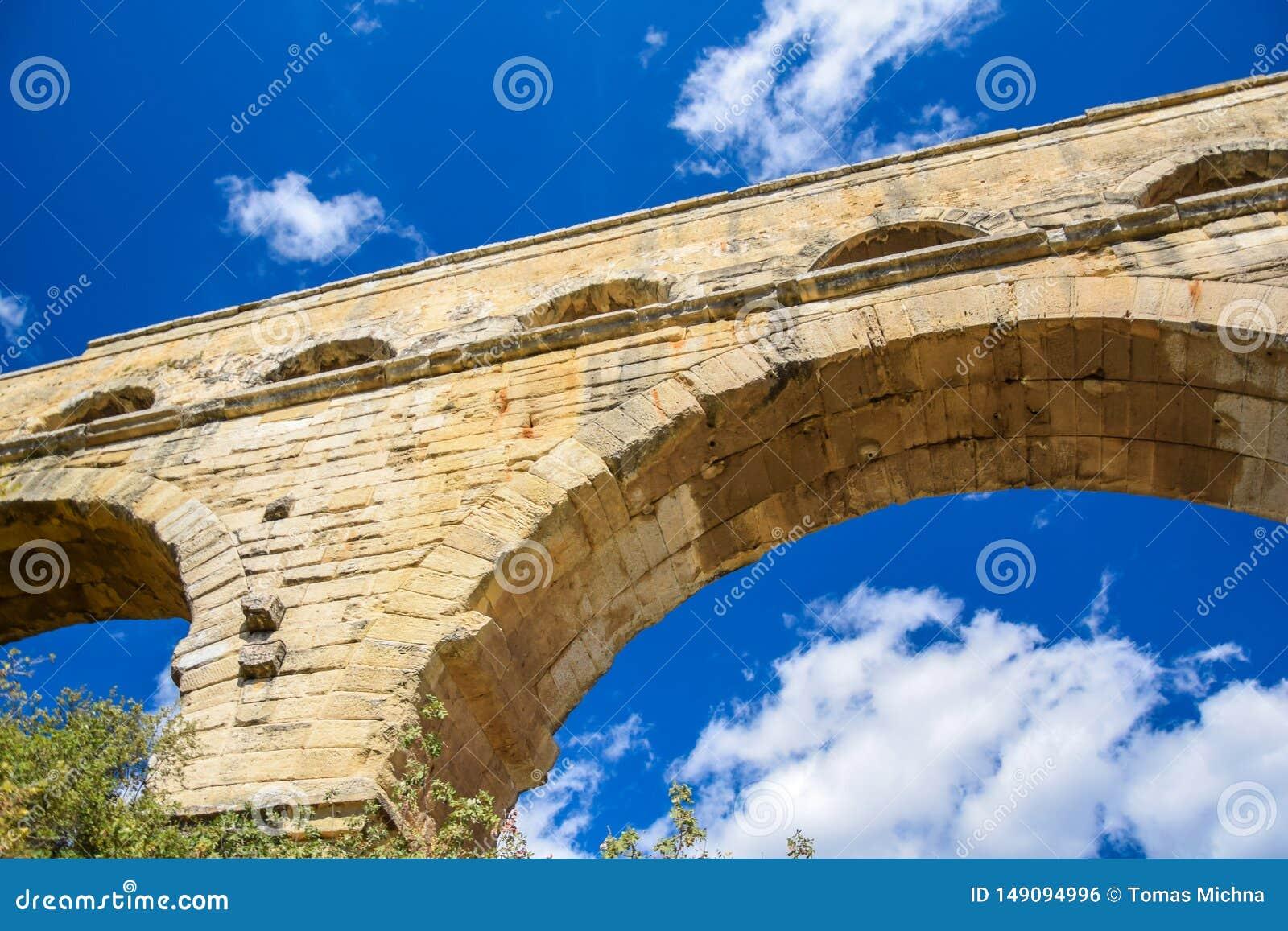 Nahaufnahme Pont DU Gard