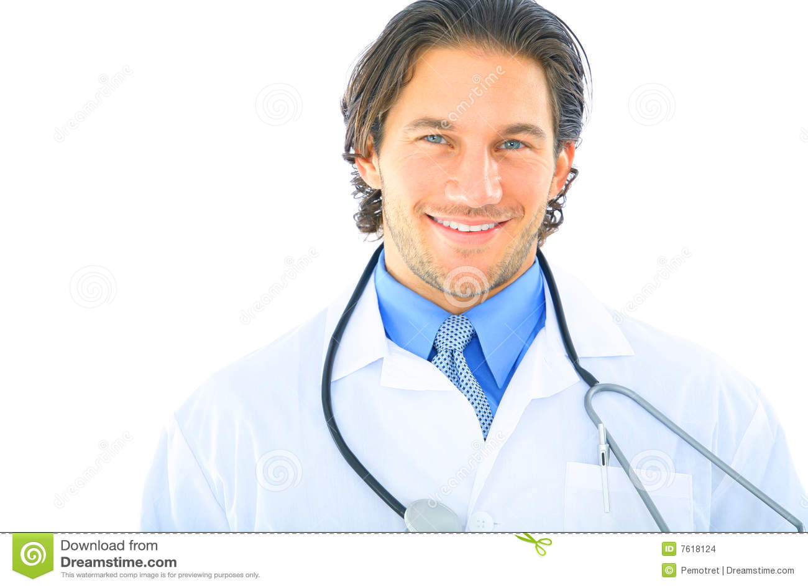 Nahaufnahme-stattlicher junger Doktor