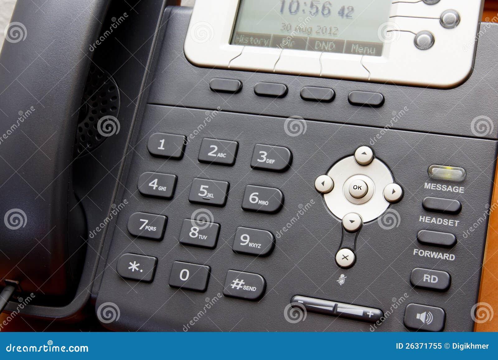 Nahaufnahme VoIP Telefon