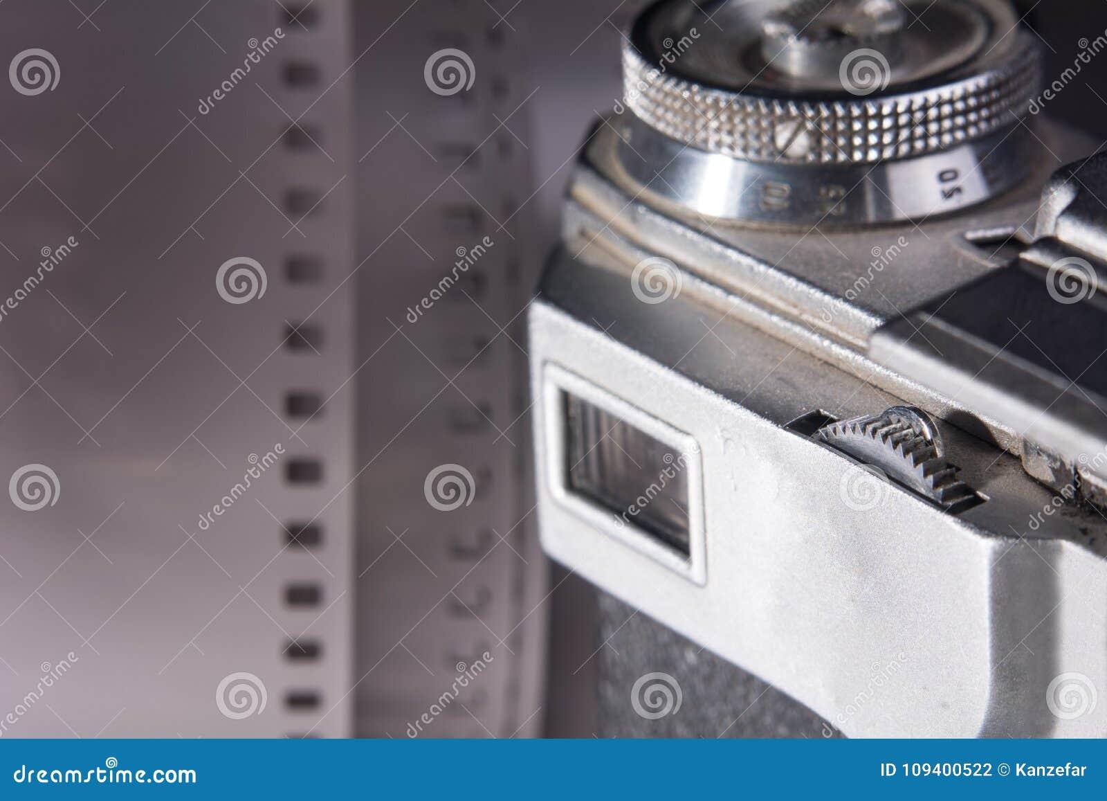 Nahaufnahmesucher einer alten Filmkamera