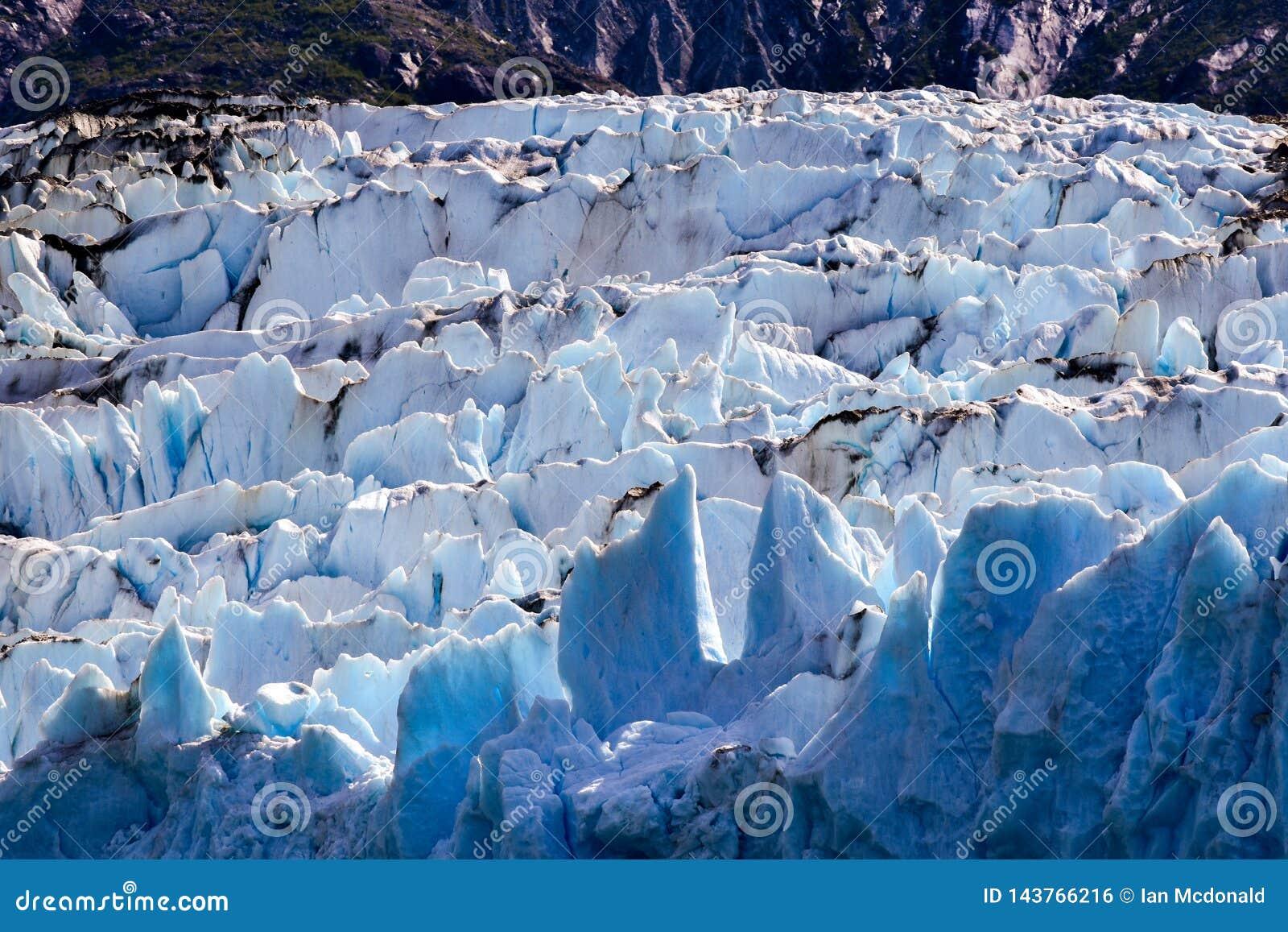 Nahes hohes des Gletschereises