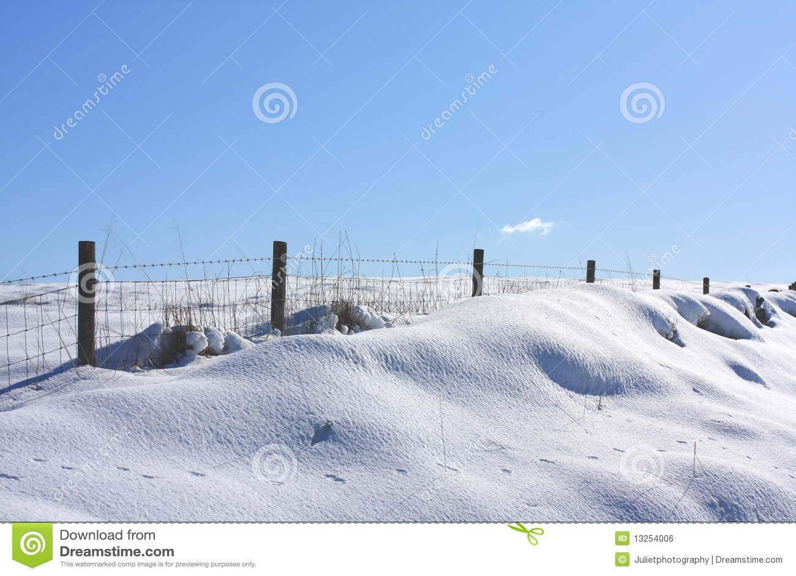 Nahes hohes des Schnees