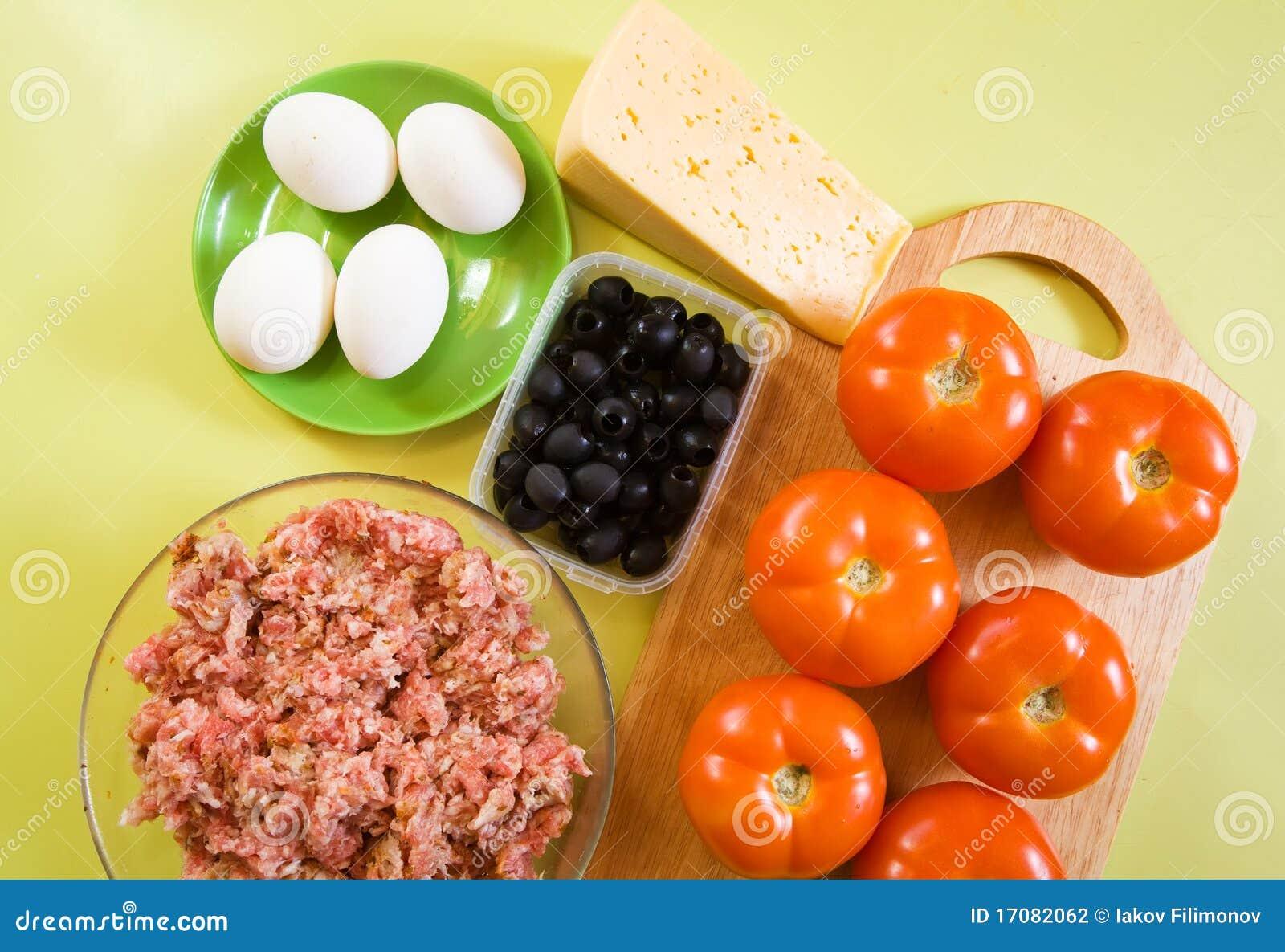 Nahrungsmittel für farci Tomate