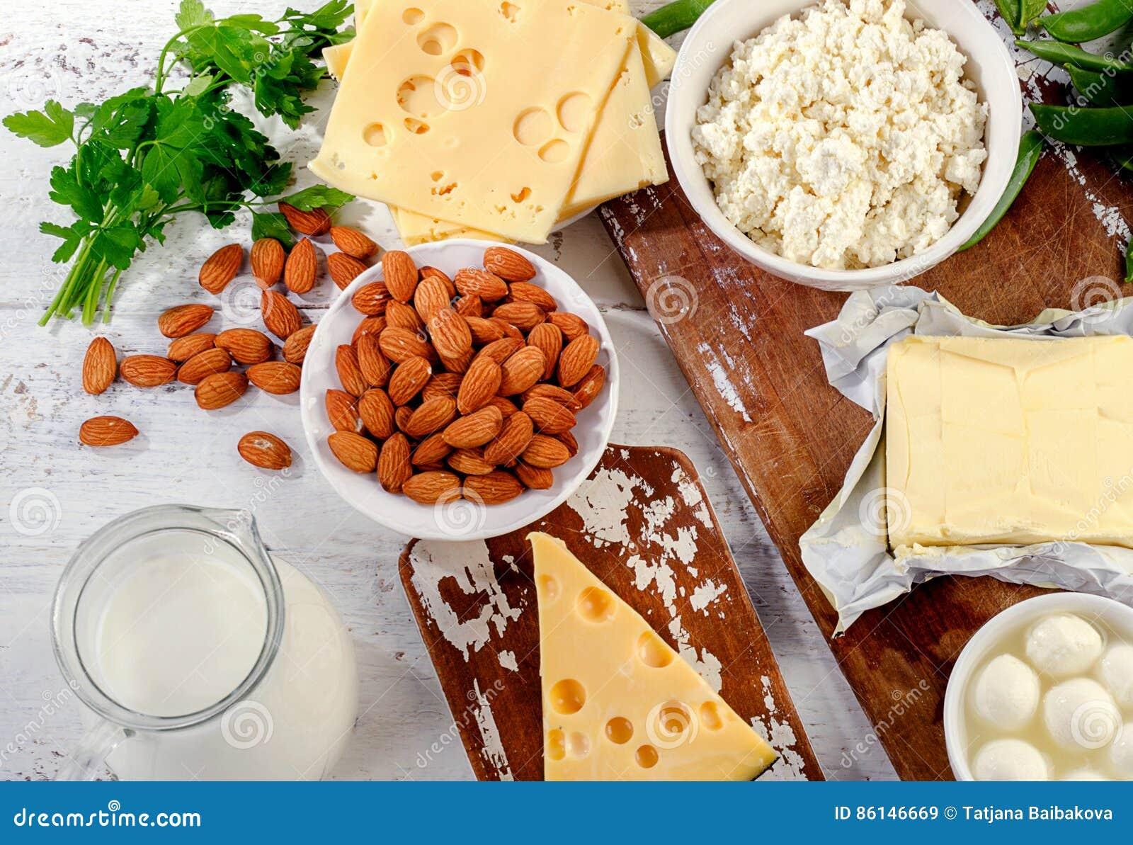 Nahrungsmittel reich im Kalzium