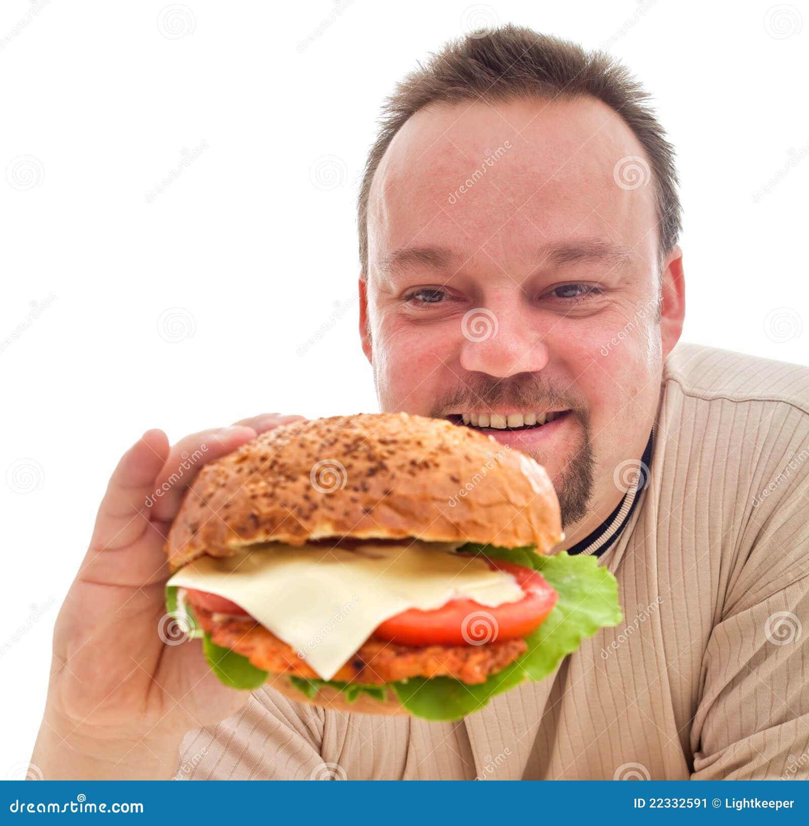 Nahrungsmittelneigung - Mann in der Ablehnungphase