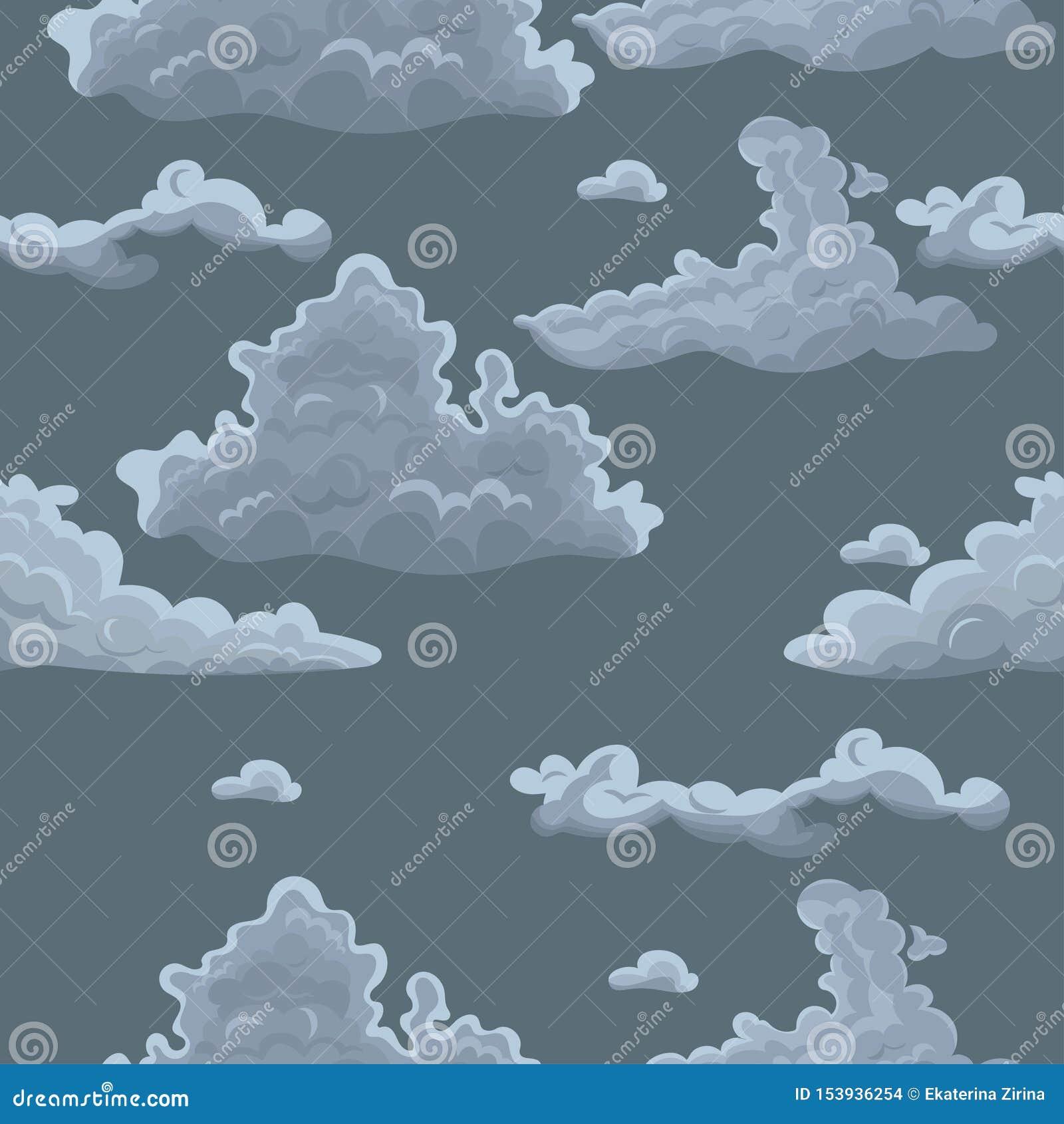 Nahtlose Beschaffenheit mit Wolken Vektorschablone für Gewebe, Packpapier und andere