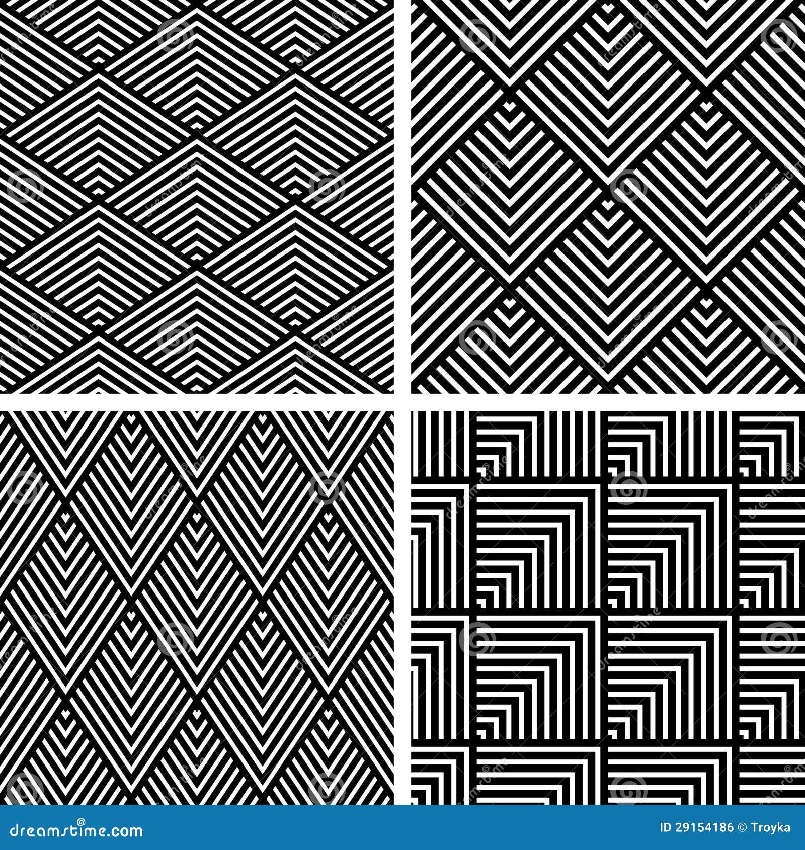 nahtlose geometrische muster eingestellt lizenzfreies stockbild bild 29154186. Black Bedroom Furniture Sets. Home Design Ideas