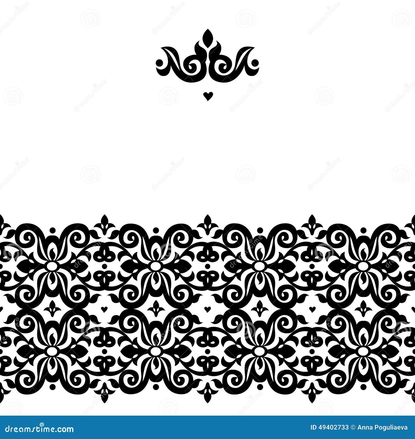 Download Nahtlose Grenze Des Vektors Im Viktorianischen Stil Vektor Abbildung - Illustration von klassisch, karte: 49402733