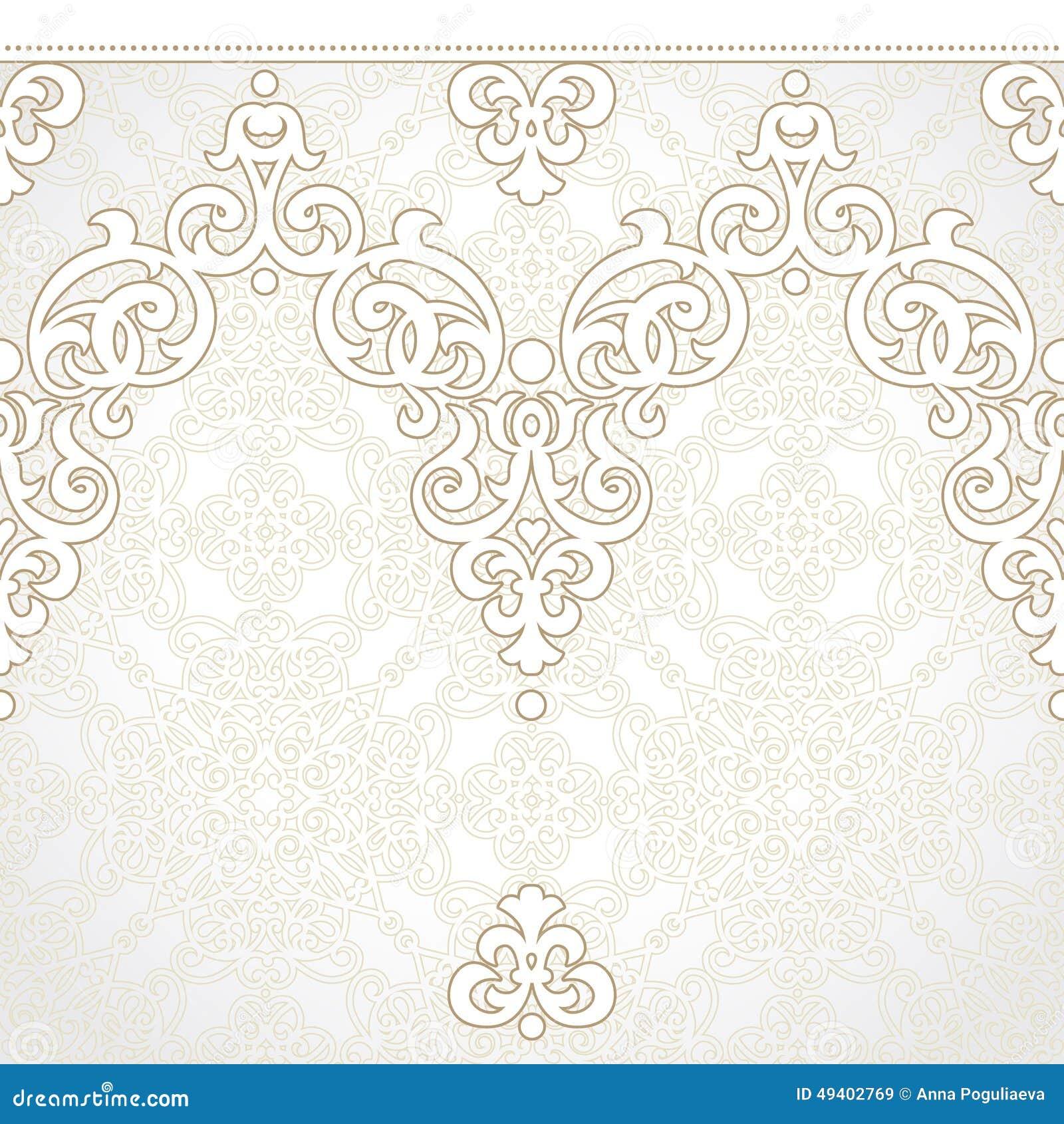 Download Nahtlose Grenze Des Vektors Im Viktorianischen Stil Vektor Abbildung - Illustration von fries, auszug: 49402769