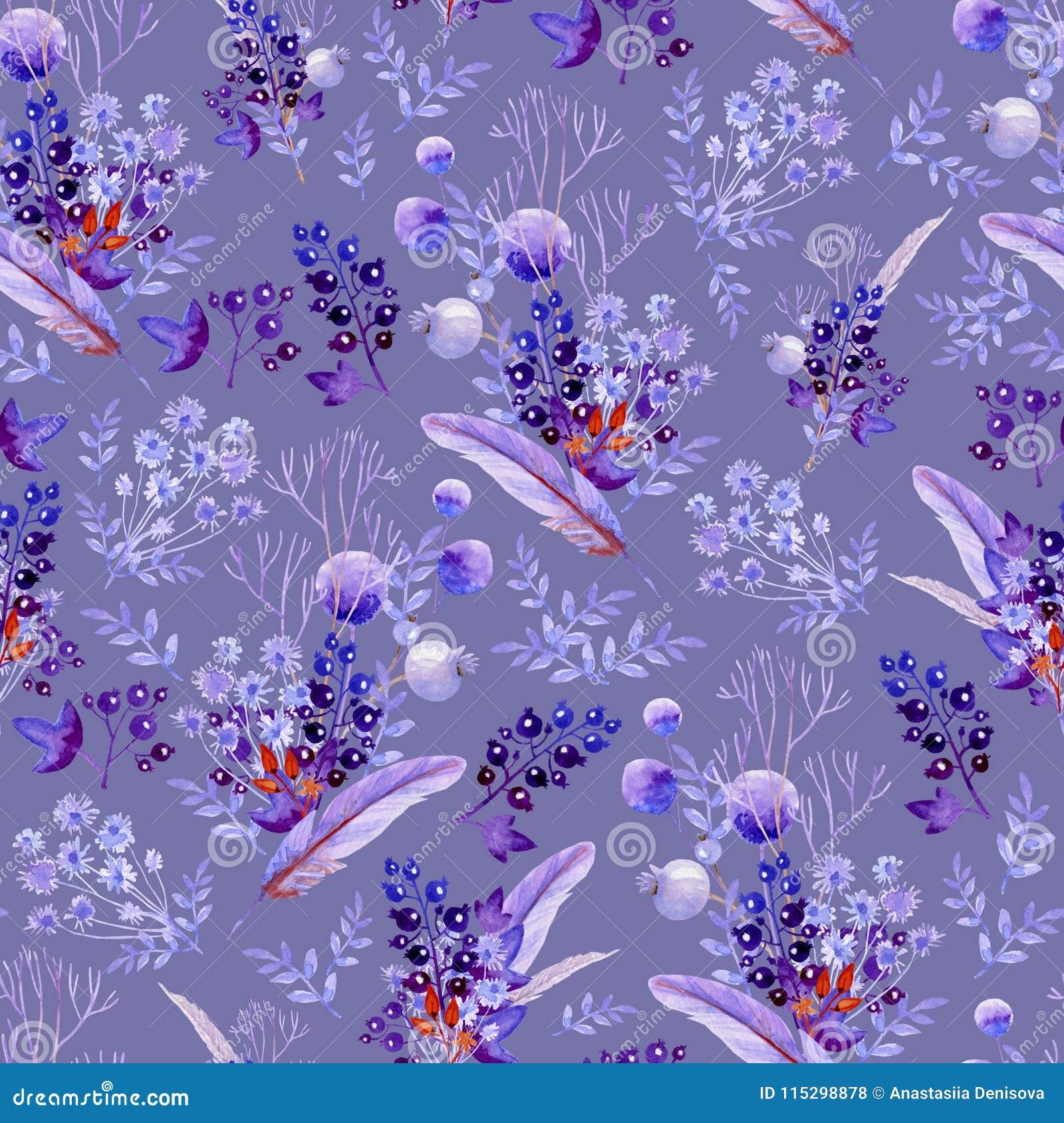 Nahtlose lila Blumensträuße Natürliche Beschaffenheit für Heiratsdesign, künstlerische Schaffen