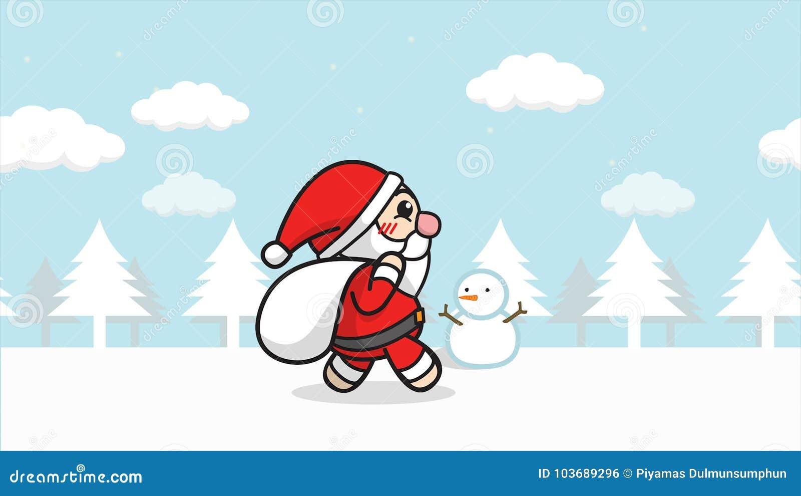 Nahtlose Schleife Weihnachts-Santa Claus-Animation Karikatur Santa ...