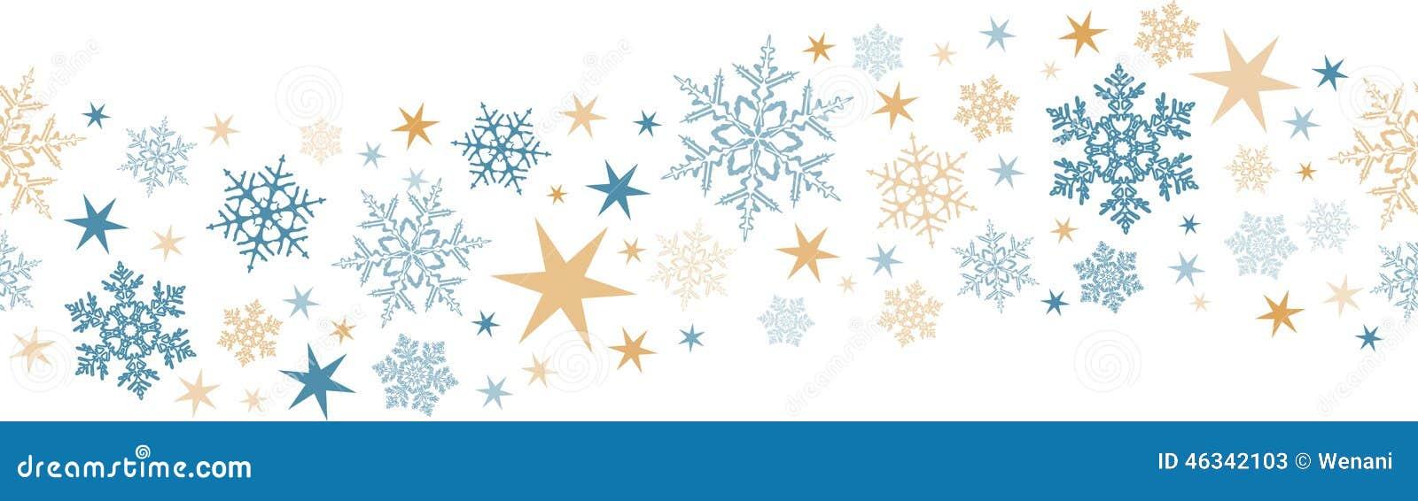 Nahtlose Schneeflocke, Sterngrenze Vektor Abbildung - Illustration ...
