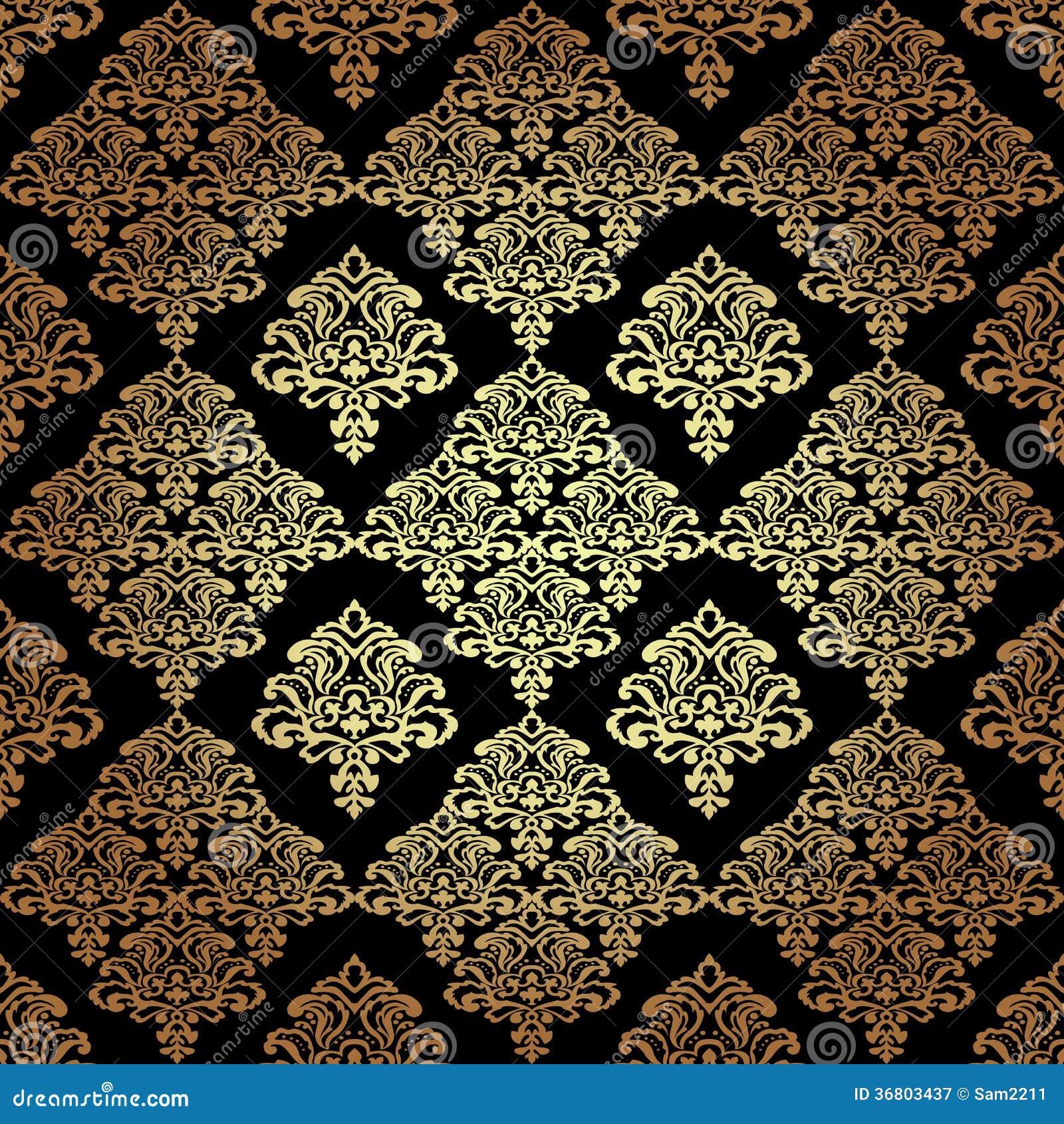 Nahtlose tapete des muster background damask stockbild for Tapete muster