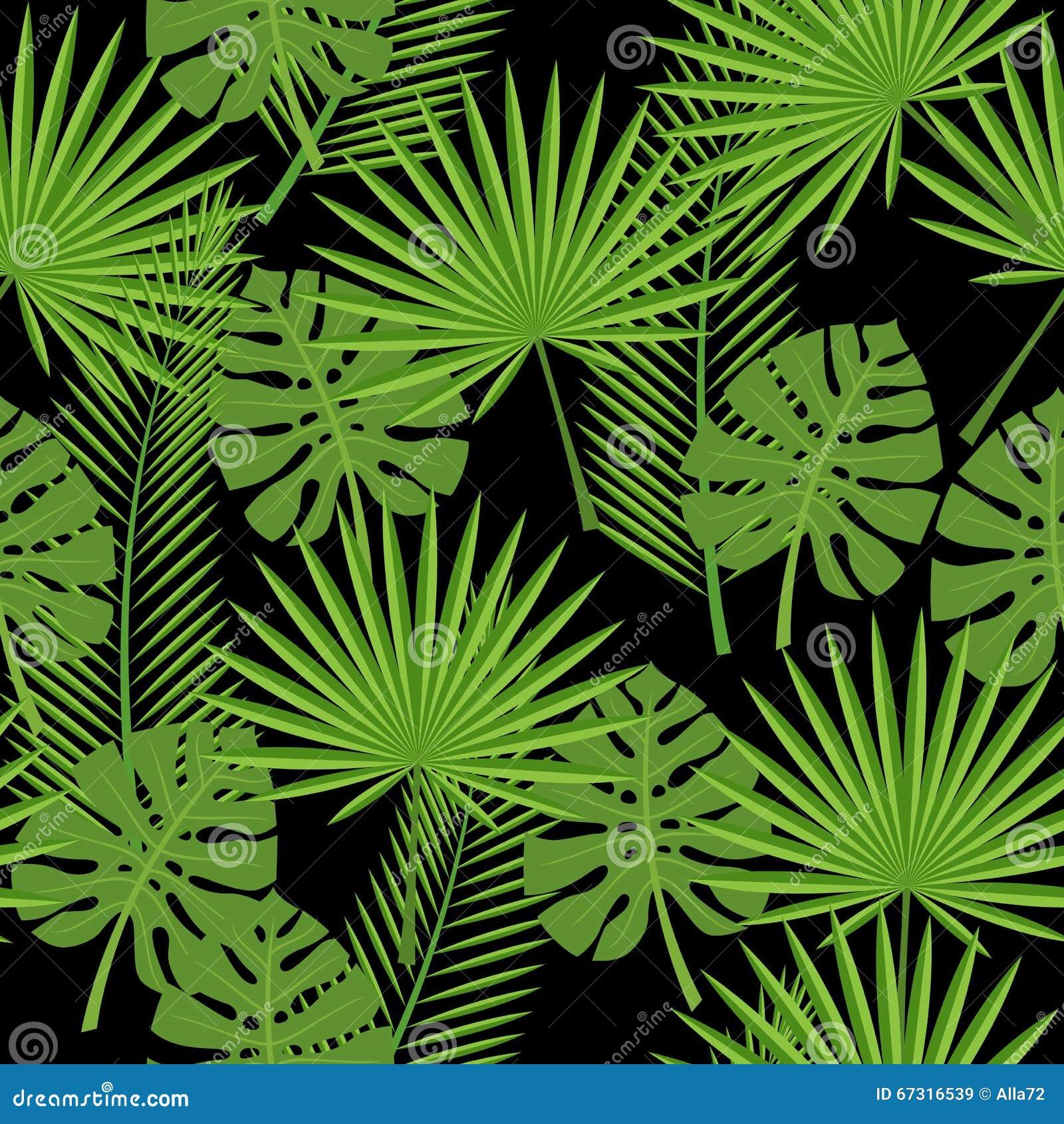 nahtlose tropische bl tter palme monstera vektor abbildung bild 67316539. Black Bedroom Furniture Sets. Home Design Ideas