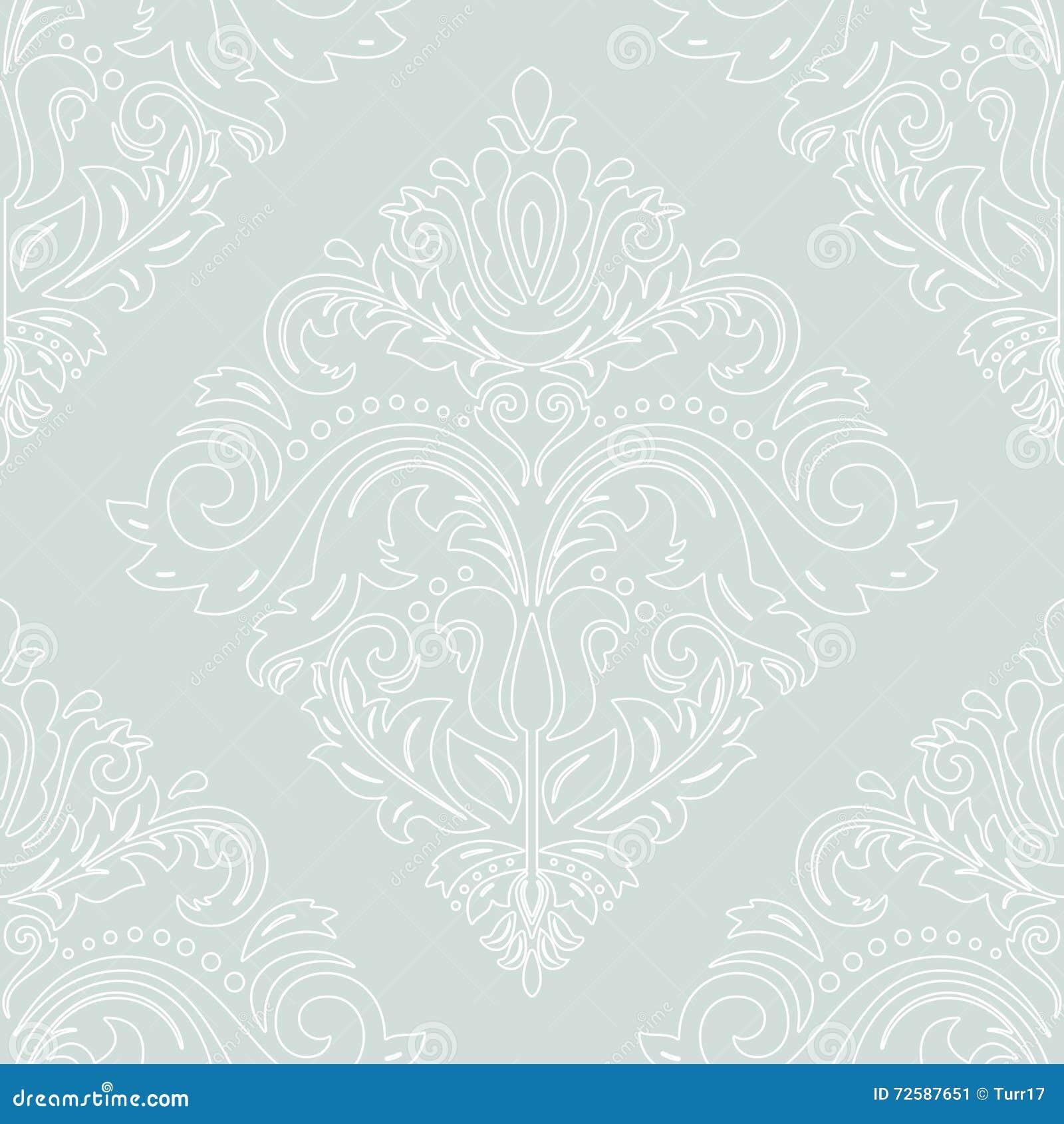 Nahtlose vektor tapete im stil des barocks vektor for Tapete orientalisch blau