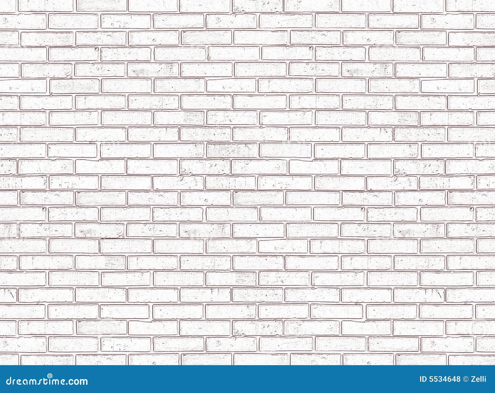Nahtlose weiße Backsteinmauer