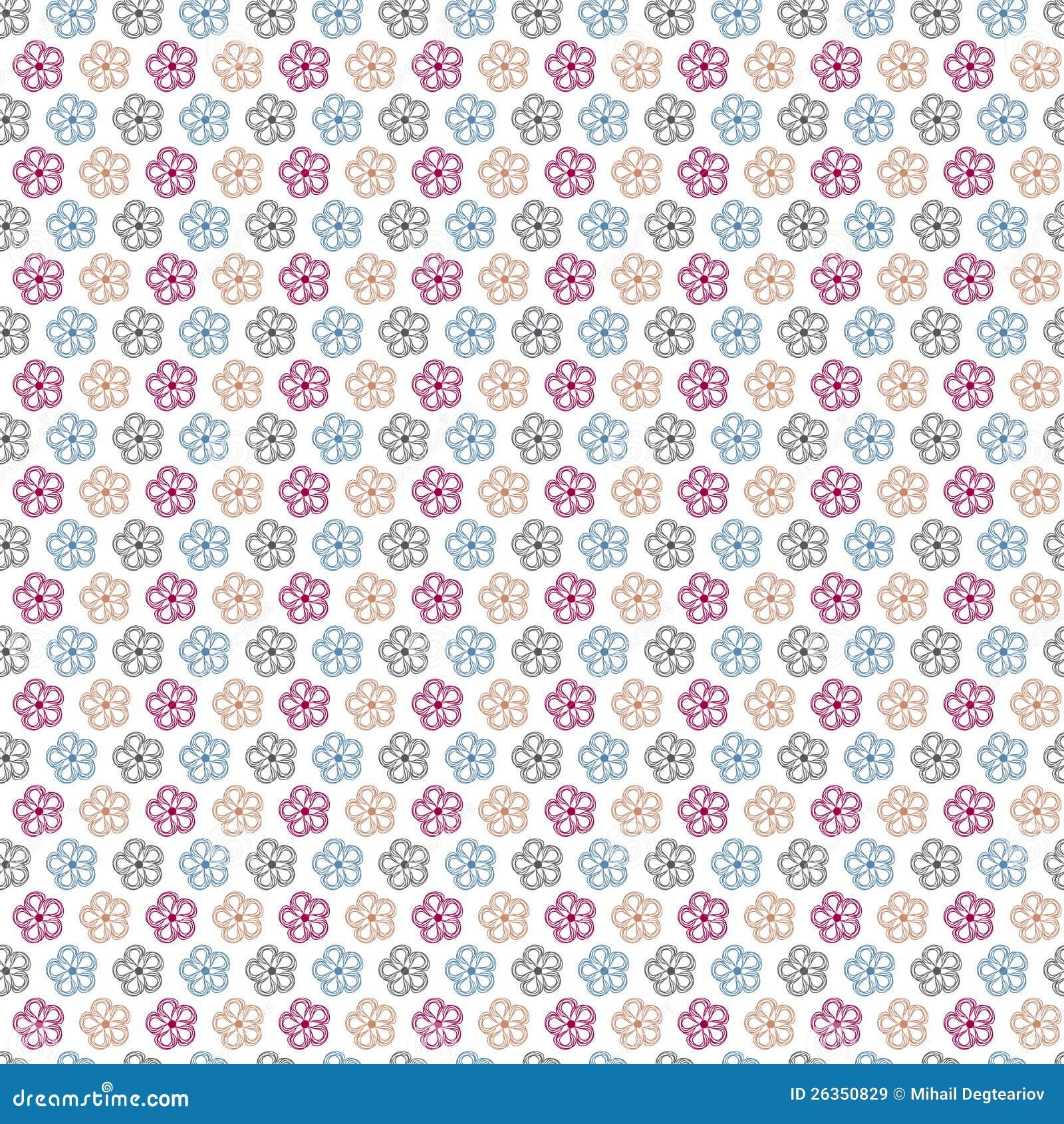 Nahtloser abstrakter mit Blumenhintergrund