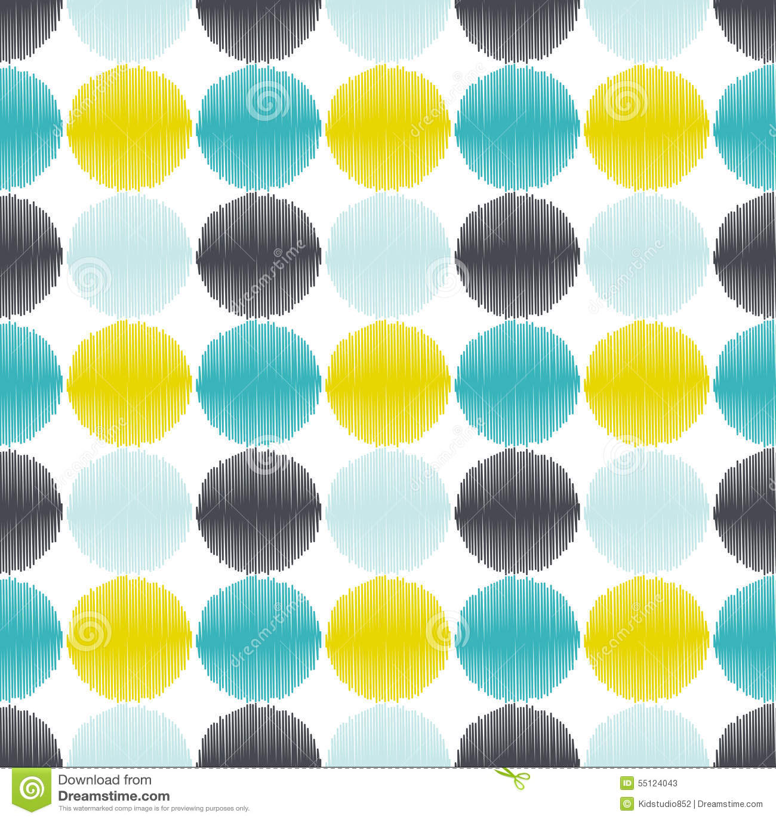 Nahtloser geometrischer Kreis punktiert Hintergrund