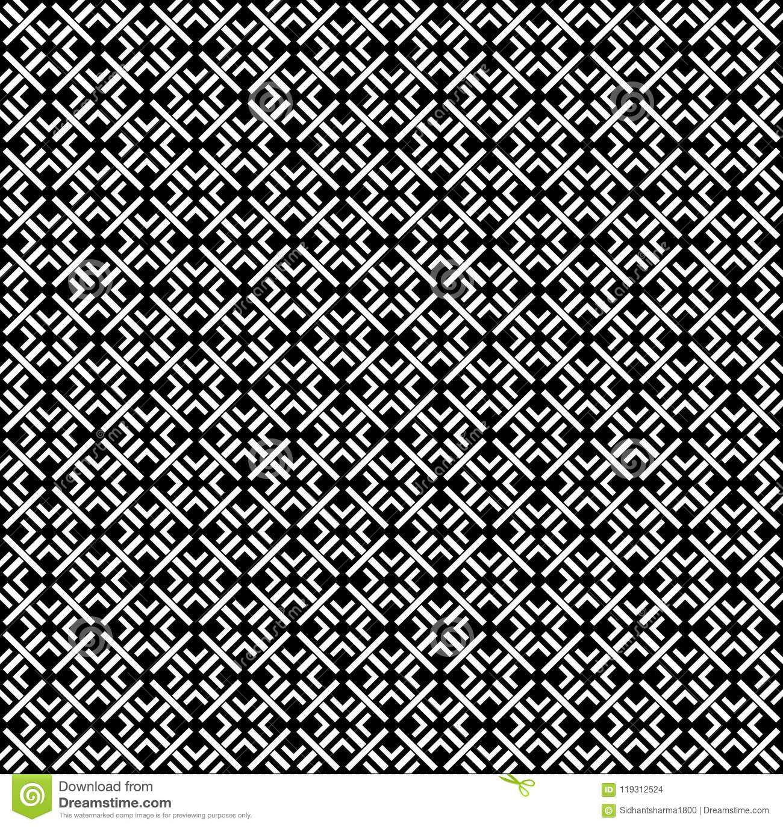 NAHTLOSER GEOMETRISCHER SCHWARZWEISS-RÜTTLER, HINTERGRUND-DESIGN abstrakter Hintergrund Wiederholen und editable Kann für Druck v