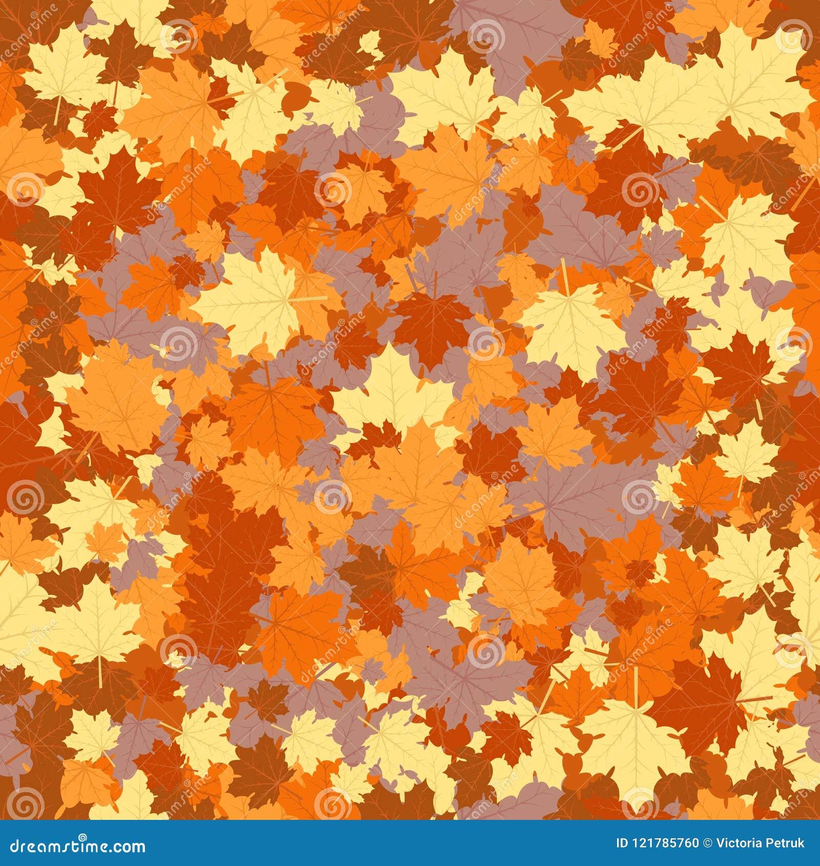 Nahtloser Herbst Hintergrund Vektor Abbildung Illustration Von
