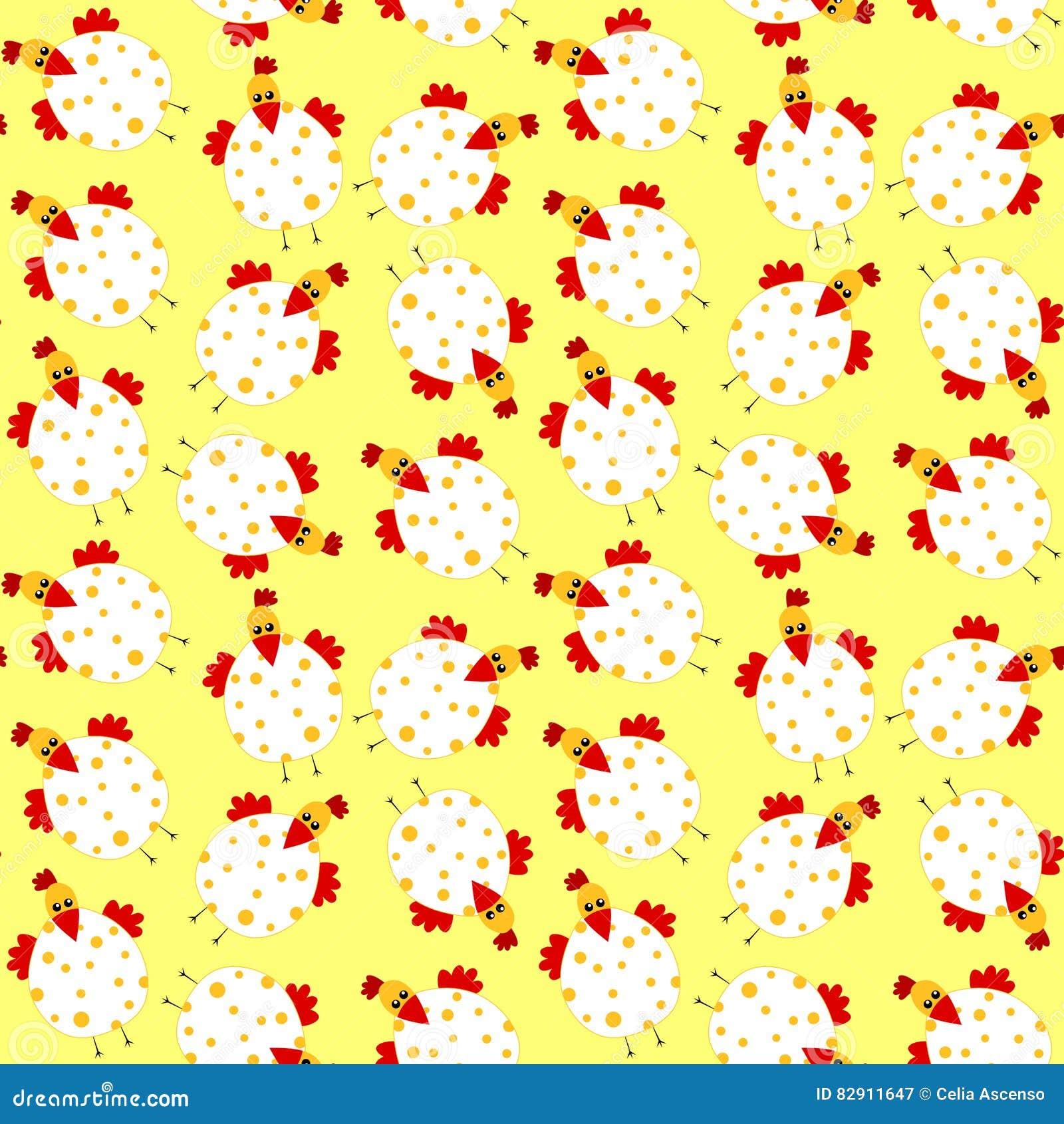 Nahtloser Hintergrund Hühner-Ostern