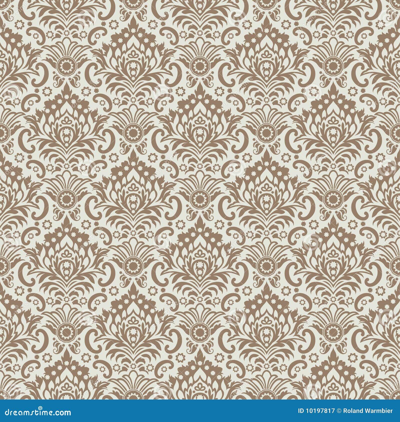 Nahtloser klassischer tapeten hintergrund vektor abbildung for Tapeten papier