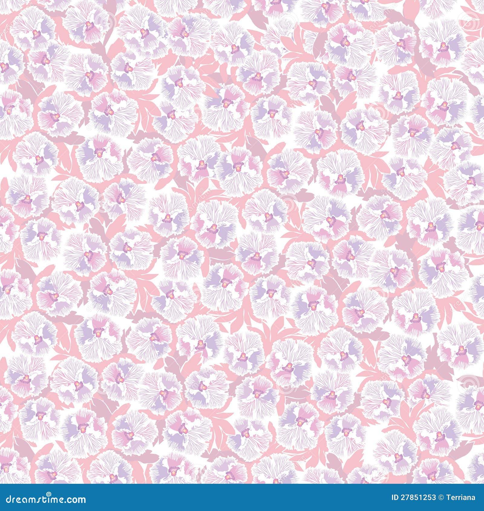 nahtloser mit blumenhintergrund rosa blumen stockfotos bild 27851253. Black Bedroom Furniture Sets. Home Design Ideas