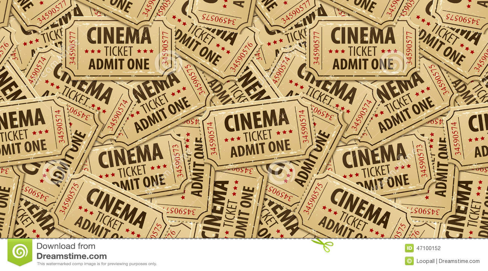 Nahtloser Musterhintergrund von Kinokarten