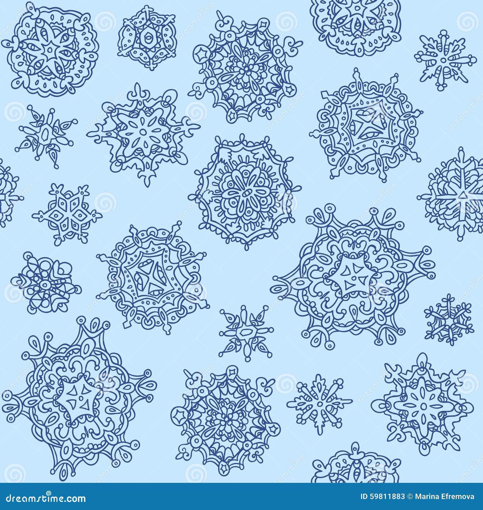 Nahtloser Schneeflockehintergrund für Winter- und Weihnachtsthema