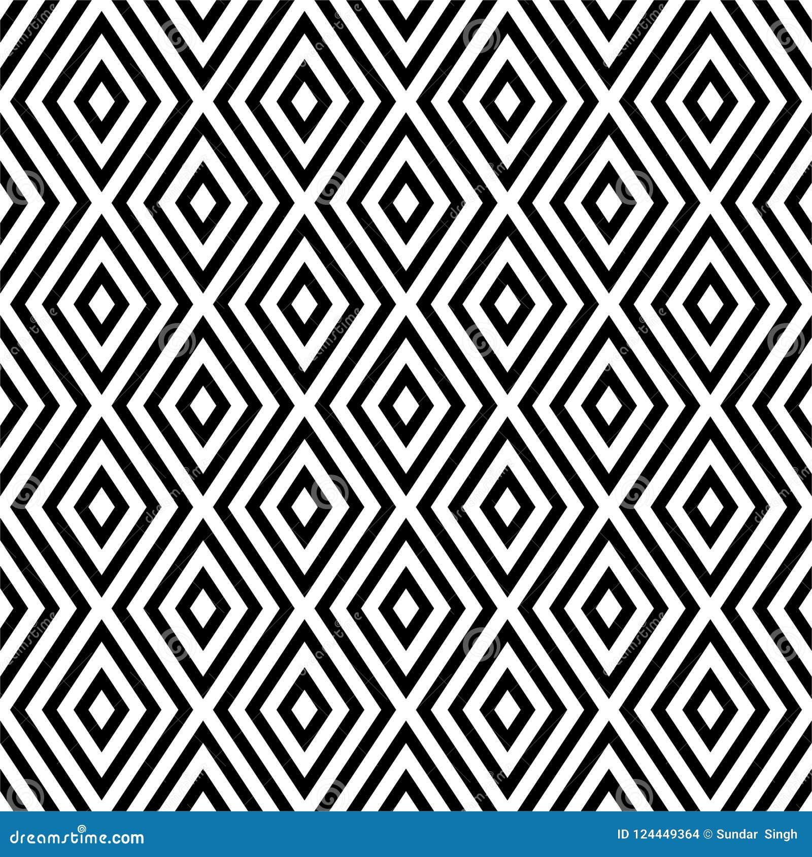 Nahtloses abstraktes Muster des Vektors Schwarzweiss Abstrakte Hintergrund Tapete Auch im corel abgehobenen Betrag