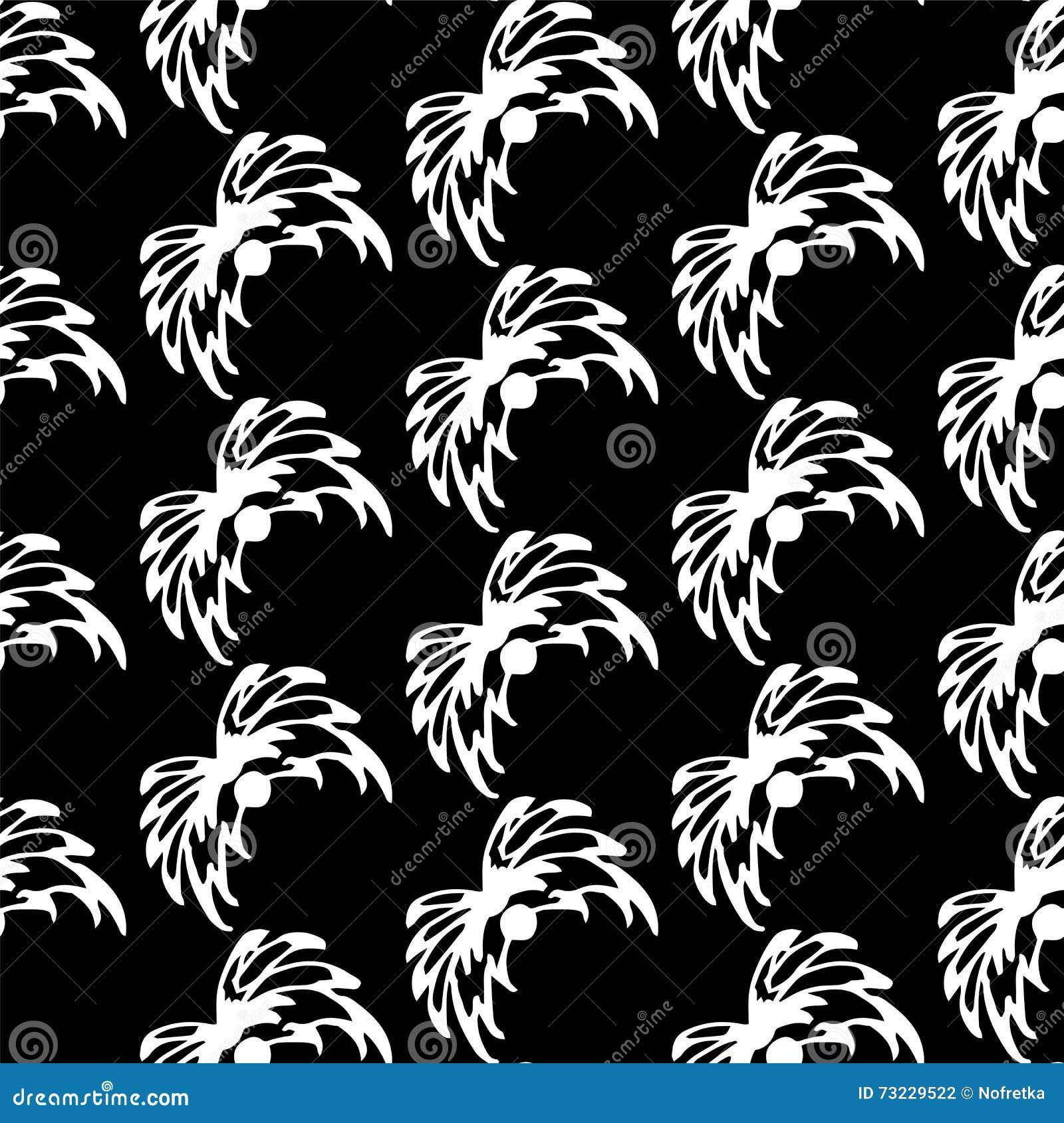 nahtloses abstraktes weies blumenmuster auf schwarzem hintergrund exklusive dekoration passend fr gewebe gewebe und verpackung - Exklusive Dekoration