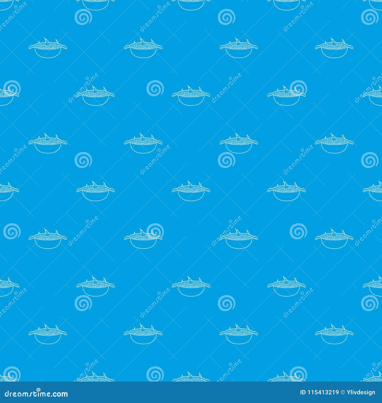 Nahtloses Blau des Grillmuster-Vektors
